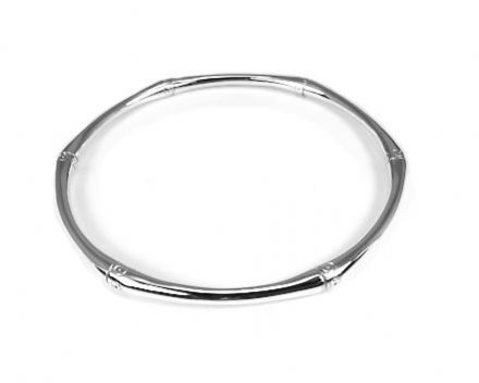 Sterling Silver Solid Bamboo Bangle
